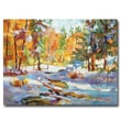 "Trademark Fine Art 'Snowy Autumn' 24"" x 32"" Canvas Art"