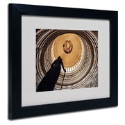 "Trademark Fine Art 'US Capitol Rotunda' 11"" x 14"" Black Frame Art"
