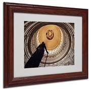 "Trademark Fine Art 'US Capitol Rotunda' 11"" x 14"" Wood Frame Art"