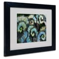 Trademark Fine Art 'Escargot Begonia' 11in. x 14in. Black Frame Art