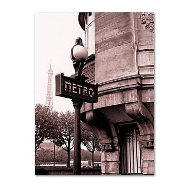 Trademark Fine Art 'Metro and Eiffel' 24