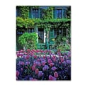 Trademark Fine Art 'Monet's House With Tulips' 18in. x 24in. Canvas Art