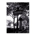 Trademark Fine Art 'Paris Metro and Kiosk' 35in. x 47in. Canvas Art