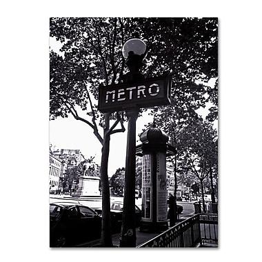 Trademark Fine Art 'Paris Metro and Kiosk' 35