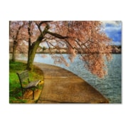 "Trademark Fine Art 'Meet Me At Our Bench' 14"" x 19"" Canvas Art"