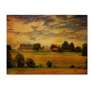 "Trademark Fine Art 'Summer Farm' 22"" x 32"" Canvas Art"