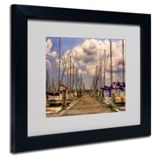 Trademark Fine Art 'Pirates Cove' 11 x 14 Black Frame Art
