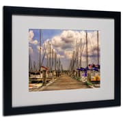 Trademark Fine Art 'Pirates Cove' 16 x 20 Black Frame Art