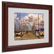 "Trademark Fine Art 'Pirates Cove' 11"" x 14"" Wood Frame Art"