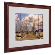 "Trademark Fine Art 'Pirates Cove' 16"" x 20"" Wood Frame Art"