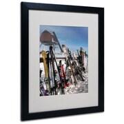 "Trademark Fine Art 'Ski Gear' 16"" x 20"" Black Frame Art"