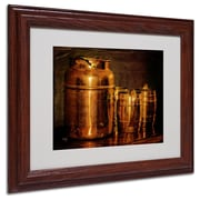 "Trademark Fine Art 'Copper Jugs' 11"" x 14"" Wood Frame Art"