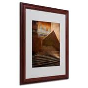 "Trademark Fine Art 'Stairway In Shadow and Light' 16"" x 20"" Wood Frame Art"