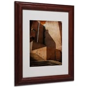 "Trademark Fine Art 'Shadow and Light' 11"" x 14"" Wood Frame Art"