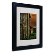 "Trademark Fine Art 'Old Farmhouse' 11"" x 14"" Black Frame Art"
