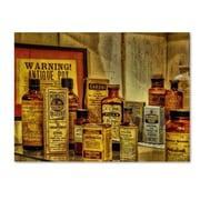 "Trademark Fine Art 'Vintage Medicines' 35"" x 47"" Canvas Art"