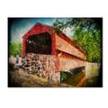 Trademark Fine Art 'Old Covered Bridge' 30in. x 47in. Canvas Art