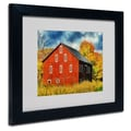 Trademark Fine Art 'Red Barn In Autumn'