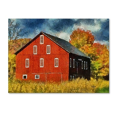 Trademark Fine Art 'Red Barn In Autumn' 35