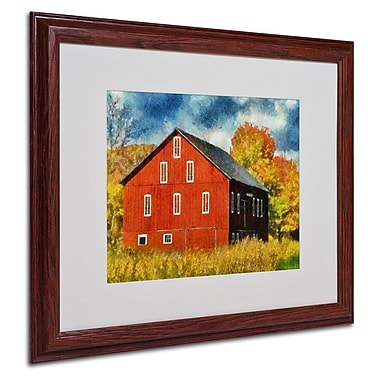 Trademark Fine Art 'Red Barn In Autumn' 16