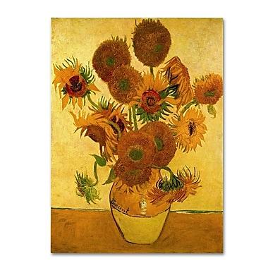 Trademark Fine Art 'Vase with Sunflowers'