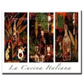 Trademark Fine Art 'La Cucina Italiana' 24in. x 32in. Canvas Art