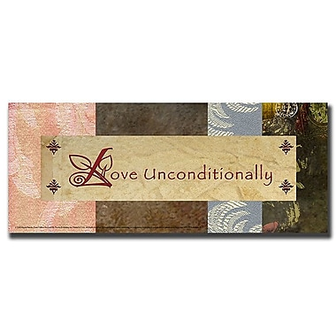 Trademark Fine Art 'Love Unconditionally' 12