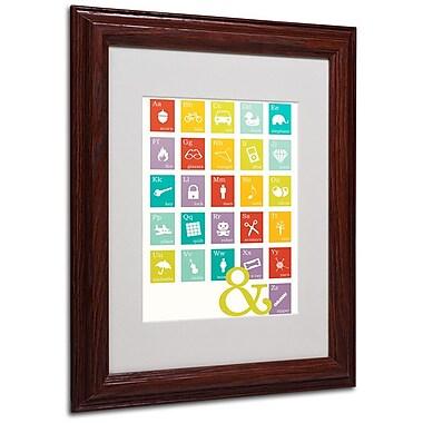 Trademark Fine Art 'Alpha Bits Rainbow' 11