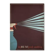 "Trademark Fine Art 'My Big Fat Green Wedding' 22"" x 32"" Canvas Art"