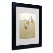 Trademark Fine Art 'Father Goose' 11 x 14 Black Frame Art