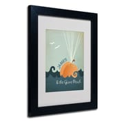 "Trademark Fine Art 'James and the Giant Peach' 11"" x 14"" Black Frame Art"