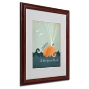 "Trademark Fine Art 'James and the Giant Peach' 16"" x 20"" Wood Frame Art"