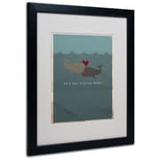 "Trademark Fine Art 'The Voyage Home' 16"" x 20"" Black Frame Art"