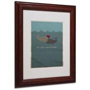 "Trademark Fine Art 'The Voyage Home' 11"" x 14"" Wood Frame Art"