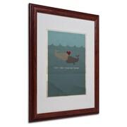 "Trademark Fine Art 'The Voyage Home' 16"" x 20"" Wood Frame Art"