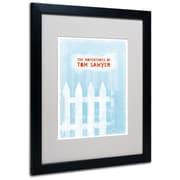 "Trademark Fine Art 'Tom Sawyer' 16"" x 20"" Black Frame Art"