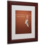 "Trademark Fine Art 'Wag the Dog' 11"" x 14"" Wood Frame Art"