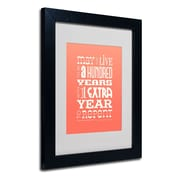 "Trademark Fine Art 'Irish Proverb II' 11"" x 14"" Black Frame Art"