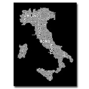 "Trademark Fine Art 'Italy City Map I' 18"" x 24"" Canvas Art"
