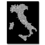"""Trademark Fine Art 'Italy City Map I' 18"""" x 24"""" Canvas Art"""