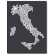 """Trademark Fine Art 'Italy in Charcoal' 22"""" x 32"""" Canvas Art"""