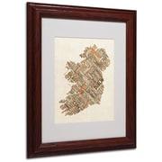 "Trademark Fine Art 'Ireland III' 11"" x 14"" Wood Frame Art"