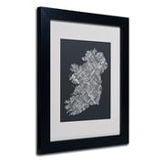 "Trademark Fine Art 'Ireland VI' 11"" x 14"" Black Frame Art"