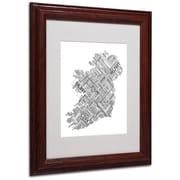 "Trademark Fine Art 'Ireland VII' 11"" x 14"" Wood Frame Art"