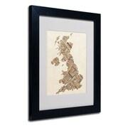 "Trademark Fine Art 'United Kingdom II' 11"" x 14"" Black Frame Art"