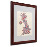 "Trademark Fine Art 'United Kingdom III' 16"" x 20"" Wood Frame Art"