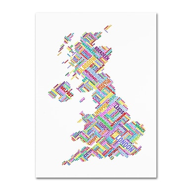 Trademark Fine Art 'United Kingdom IV' 16
