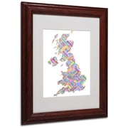 "Trademark Fine Art 'United Kingdom IV' 11"" x 14"" Wood Frame Art"