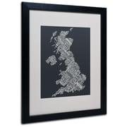 "Trademark Fine Art 'United Kingdom V' 16"" x 20"" Black Frame Art"