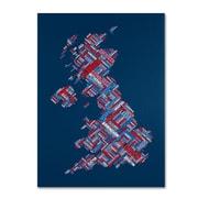 "Trademark Fine Art 'United Kingdom VI' 14"" x 19"" Canvas Art"
